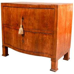 18th Century German Biedermeier Cherry Two-Drawer Swell Front Chest