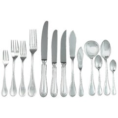 Massive English Sterling Silver Flatware Service for 12