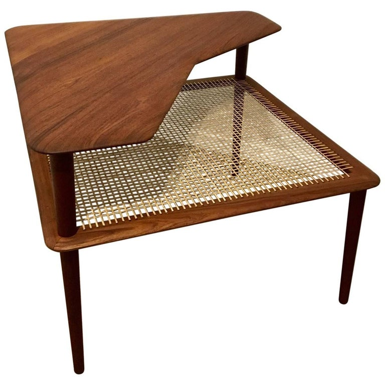 Danish Modern Corner Table by Peter Hvidt & Orla Mølgaard-Nielsen
