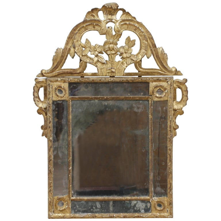 Late 18th Century French Louis XVI-Style Giltwood Wall Mirror