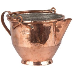 French Copper Wine Pitcher, Burgundy Region, 1900s