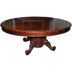 19th Century Important and Rare Oval Dining Table