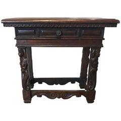 Antique Walnut Side Table, circa 1780