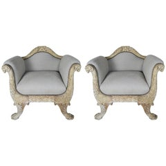 Pair of 19th Century French Carved Armchairs