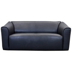 De Sede DS 47 Designer Sofa Neck Leather Black Two-Seat Function Couch Modern