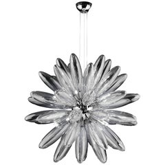 Torpedo Sputnik Clear Glass Chandelier