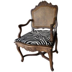 18th Century Regence Caned French Armchair