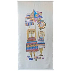 Kites Wall Hanging by Evelyn and Jerome Ackerman, 1958