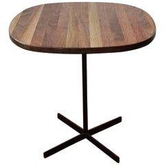 Allan Gould Mixed Hardwood and Steel Base Side Table, 1955