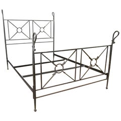 Grand Tour Roman Style Forged Iron Queen-Size Bed