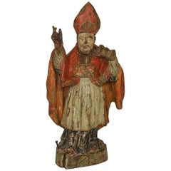 17th Century Baroque Religious French Saint Nicholas Statue