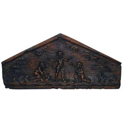 Italian 18th Century Baroque Venetian Gondola Panel