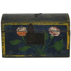 Very Small 19th Century French Folk Art Wedding Box from Normandy