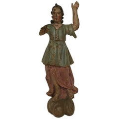 18th Century, Italian Baroque Angel Figure