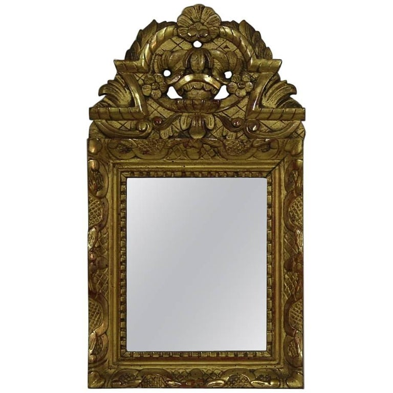 Small french louis xv baroque style giltwood mirror at for Small baroque mirror
