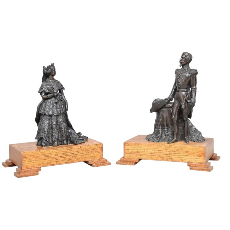 Pair of 19th Century French Bronzes For Sale