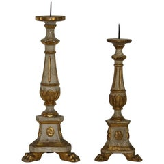 Couple of 18th Century Italian Classical Louis XVI Style Candlesticks