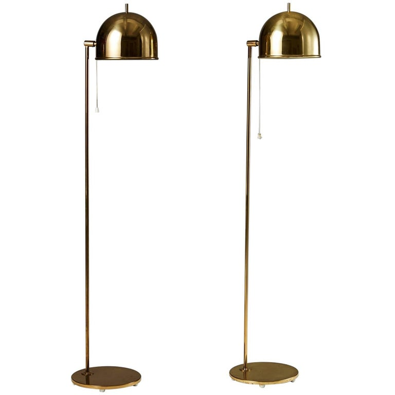 Pair of Floor Lamps, Anonymous for Bergboms, Sweden, 1960s