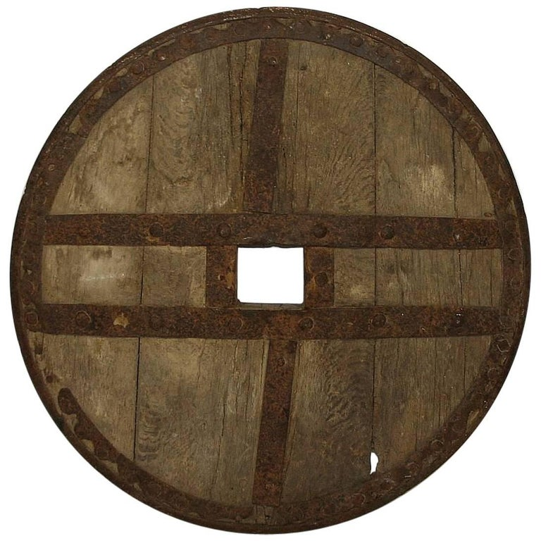 Large 17th-18th Century Primitive Spanish Chariot Wheel