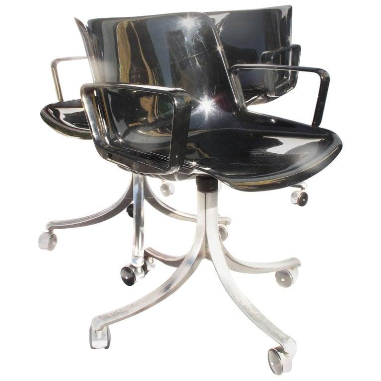 Modus Four Chairs by Osvaldo Borsani for Tecno, 1973
