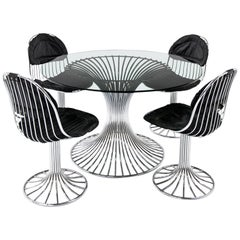 Modern Dining Room Ensemble in the Style of Warren Platner, 1960s