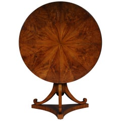 Unique Biedermeier Folding Cherrywood Table, circa 1820