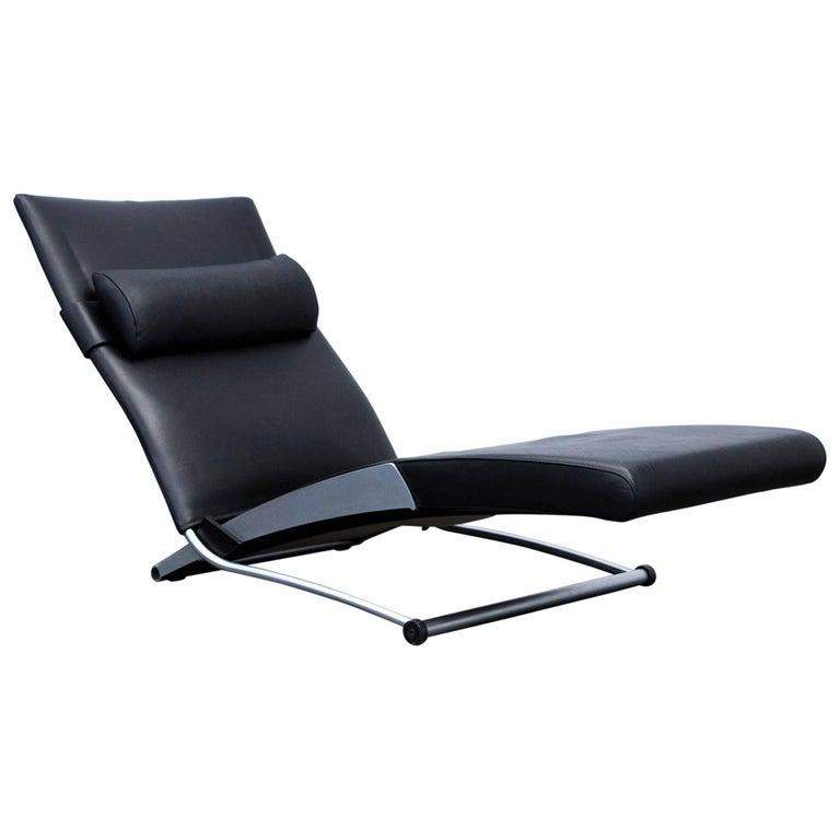 Interprofil Xchair Leather Relax Chair Black Joachim Nees