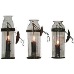 Small Collection of 19th Century French Glass Lanterns