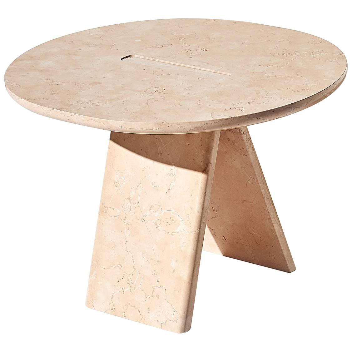 Contemporary Lásta Coffee Table Or Side Table Table High In Pink Marble
