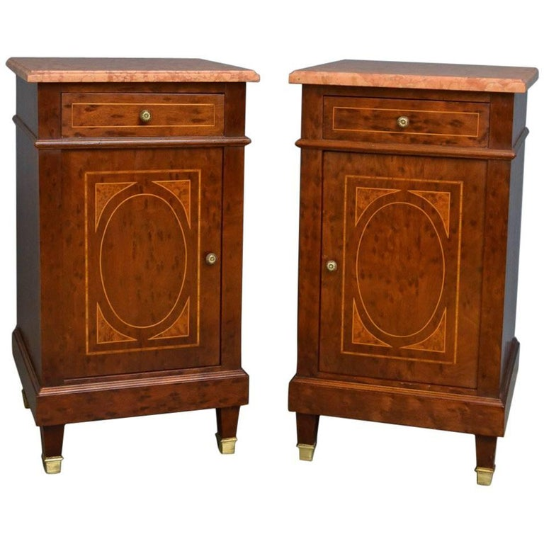 Pair Of Antique Bedside Cabinets For Sale At 1stdibs