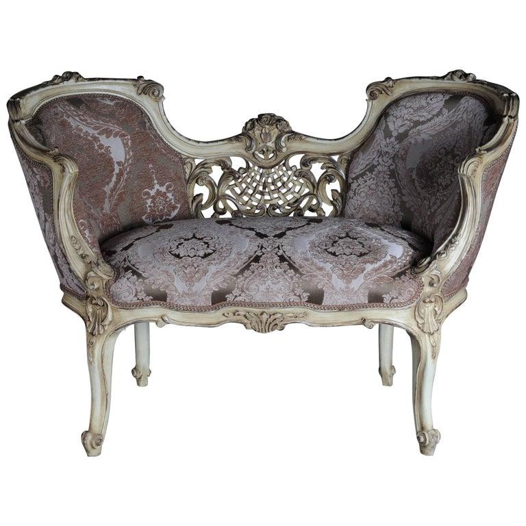 Petite French Bench, Sofa in Louis XV