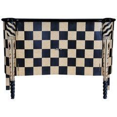 Fancy Designer Dresser Chessboard Pattern