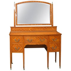 Edwardian Satinwood Dressing Table