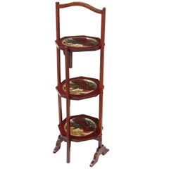 1920s Japanese Lacquered Three-Tier Cake Stand