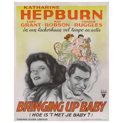 """Bringing Up Baby /  Hoe Is't Je Baby ?"" Original Dutch Movie Poster"