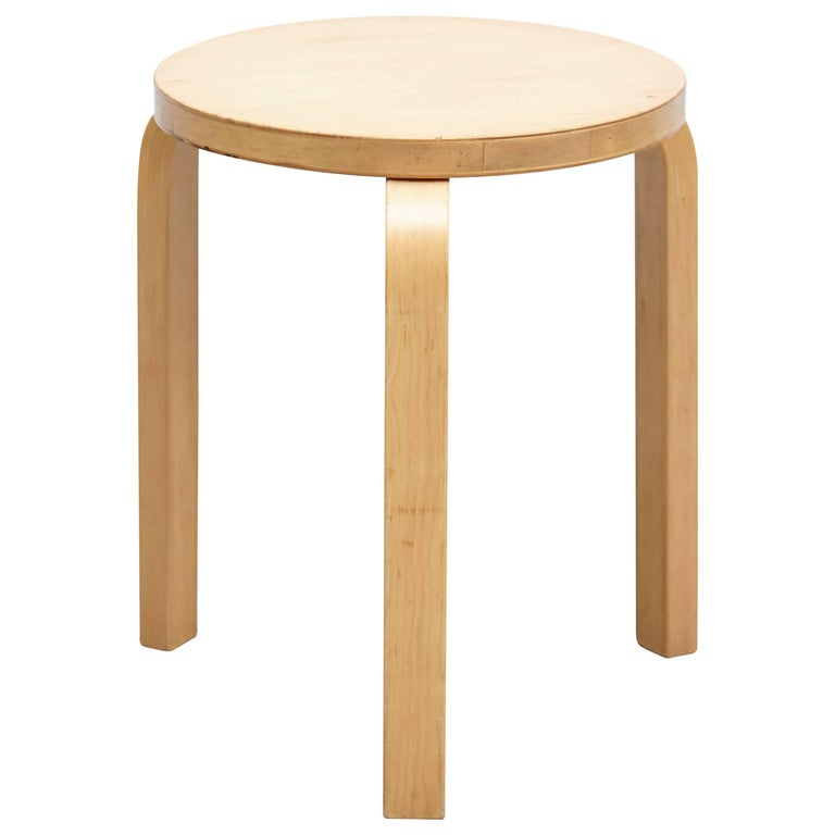 Alvar Aalto Stool, circa 1960 For Sale
