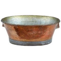 Arts & Crafts Scandinavian Copper Tub Pot