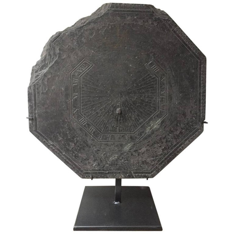 18th Century Slate Stone Sundial