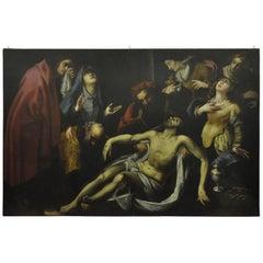 """18th Century italian oil  Reinaissance""""The Deposition"""" Painting"""