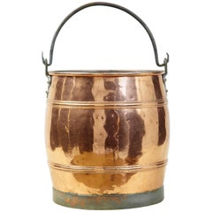 Arts & Crafts Scandinavian Copper and Steel Bucket