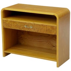 Swedish 20th Century Shaped Birch Bedside Table