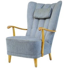20th Century, 1960s Swedish Birch Armchair