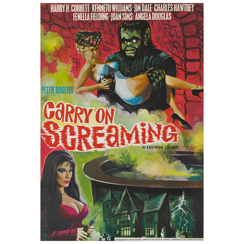 """Carry on Screaming"" Original British Movie Poster"