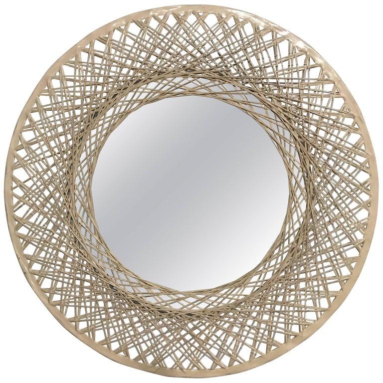 Spun Fiberglass Antique Mirror For Sale