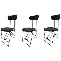 "Set of Three Andries Van Onck & Kazuma Yamaguchi ""Cricket"" Folding Chairs"