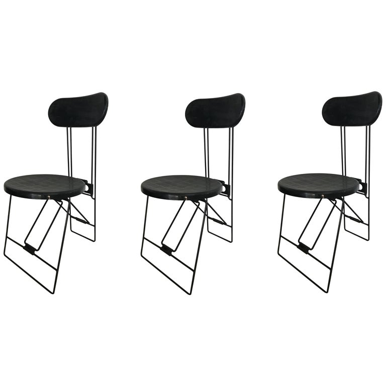 "Set of Three Andries Van Onck & Kazuma Yamaguchi ""Cricket"" Folding Chairs For Sale"