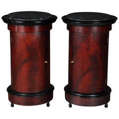 Tonneau, Bar Cabinet, Side Table in Biedermeier Mahogany R