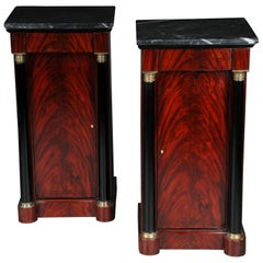 Classic Bedside Table, Side Table in Biedermeier, Mahogany L