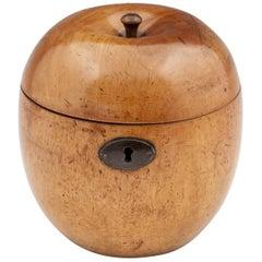 Apple Treen George III Fruit Tea Caddy