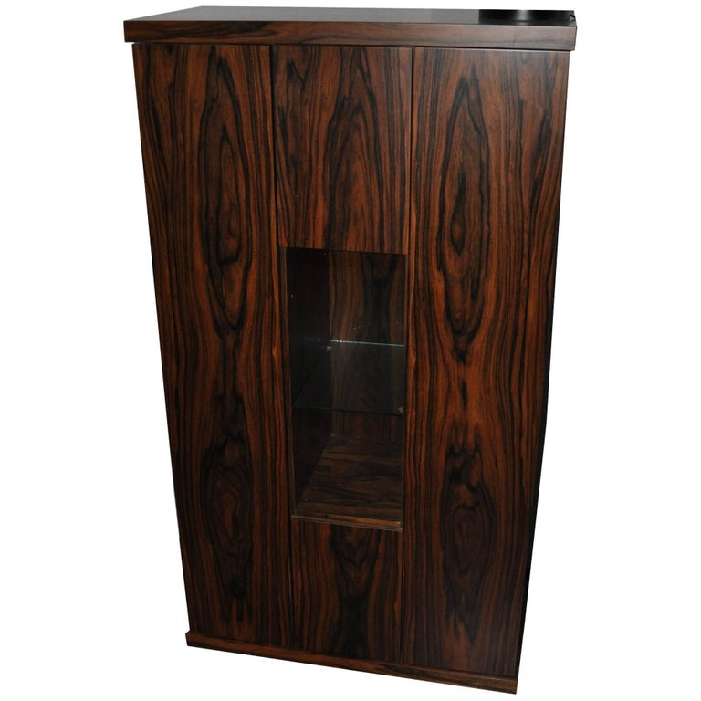 Rosewood Dry Bar Cabinet For Sale